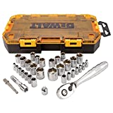 "DEWALT DWMT73804 Tough Box Drive Socket Set, 1/4"" and 3/8"""