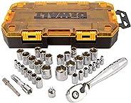 DEWALT Conjunto de soquetes, chave de 9,5 mm, SAE/Metric, 34 peças (DWMT73804)