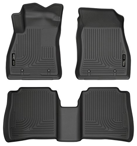Husky Liners Front & 2nd Seat Floor Liners Fits 14-18 Sentra (Racing Nissan Sentra)