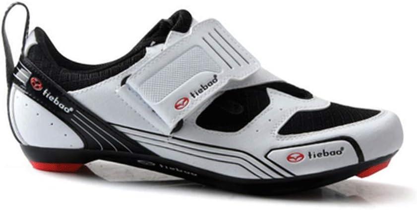FACAI Zapatillas De Ciclismo Suela Dura Zapatillas De Bicicleta Zapatillas De Bicicleta con Calas SPD Zapatillas De Ciclismo De Carretera Ligeras Zapatillas Superstar para Hombre,White-47: Amazon.es: Hogar