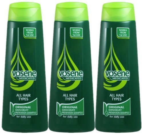 Vosene 3X Medicated Original Anti-Dandruff Shampoo For All Hair Type 250Ml