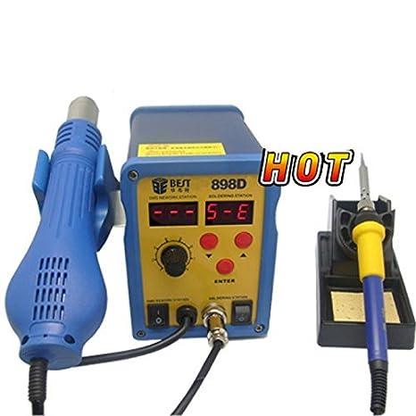 sparfix® - Pistola estación de aire caliente estación soldar Best 898d: Amazon.es: Electrónica