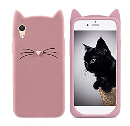 low priced 596c8 f3e21 Addindia Cat Soft Silicon Rubber Back Case Cover for Vivo Y51L (Rose Gold)
