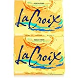 La Croix Peach Pear Sparkling Water, 12 Ounce (24 Cans)