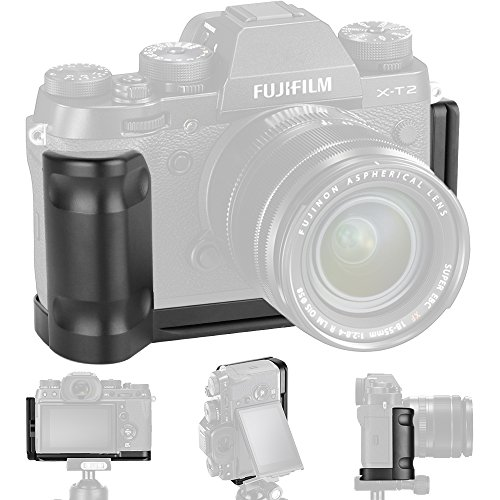XT2 Grip Vertical Shoot Hand Grip QR Quick Release L Plate Camera Bracket Holder for Fuji Fujifilm XT2 X T2 X-T2 by Anwenk