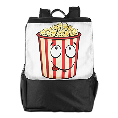 Benpo Cute Popcorn Outdoor Backpack Lightweight Fashion Hiking Rucksack Casual Large Shoulder Book Bags One (Bag Of Popcorn Costume)