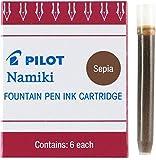 Pilot Namiki IC50 Fountain Pen Ink Cartridge, 6 Cartridges per Pack, Sepia 2-Pack