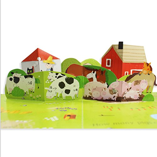 Fityle 3D Pop Up Books for Kids Boys Girls (Story Book, Baby Book, Children's Book) - A busy farm by Fityle (Image #4)