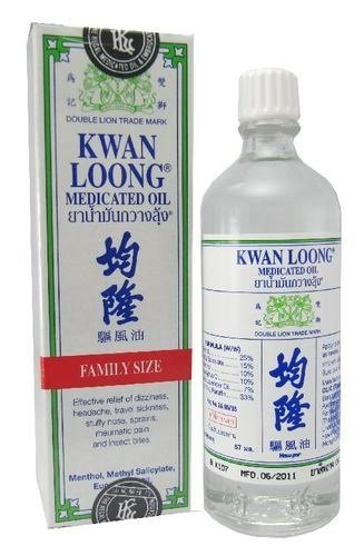 KWAN LOONG Medicated Oil for Fast Pain Relief 57 ml Family Size