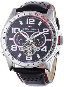 Tommy Hilfiger 1790677 - Reloj de caballero automático, correa de piel color negro