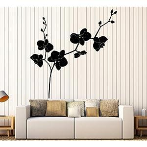 Vinyl Wall Decal Orchid Flower Shop Floral Bedroom Design Stickers Large Decor (1080ig) Black 89