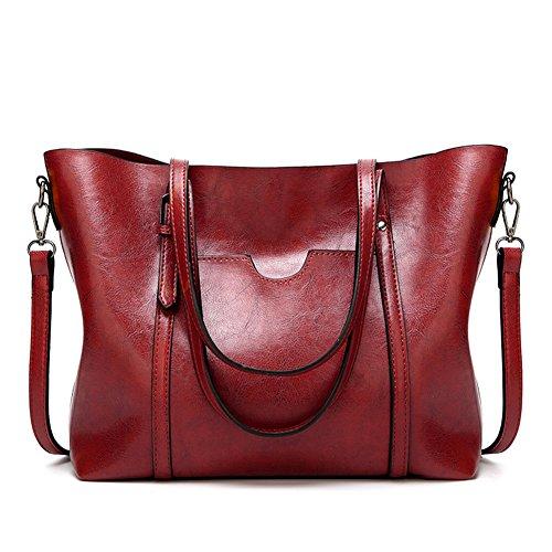 Bandoulière Sac Fourre D'épaule Crimson main tout PU cuir Sac à Sac femme XA7w6Zqx