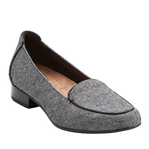 Clarks Vrouwen Keesha Luca Slip-on Loafer Zwart Tweed Wol