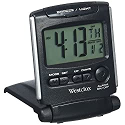 Westclox 72028 Travel Alarm Clock, Bluelight LCD