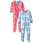 Just Love Footed Pajamas / Blanket Sleepers (Pack of 2),Cupcake and Hearts,3T