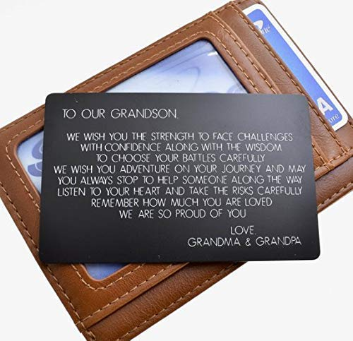 Custom Wallet Card For Our Grandson, Graduation Gift