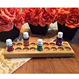 Essential oil rack / holder, EO storage stand for 18 bottles, oils organizer w/ dual bottle sizing, EO display for 5ml and 15ml bottles, 4 colors available! Great for Young Living or doTerra!