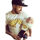 Tomblin Pizza Slice Shirt-Funny Daddy and Baby Matching T Shirt Family Clothes Matching Outfits Shirts (Aian XL=US 14-16(Adult Only)), Adult Only