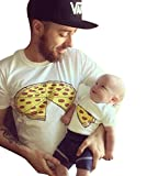 Tomblin Pizza Slice Shirt-Funny Daddy and Baby Matching T Shirt Family Clothes Matching Outfits Shirts (70(For 6months Baby), Kids Only)