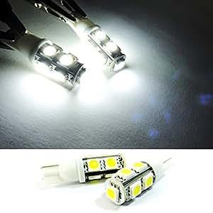 LEDIN 2x White High Power 9 SMD LED Rear Side Marker Light T10 168 194 Bulb 5W