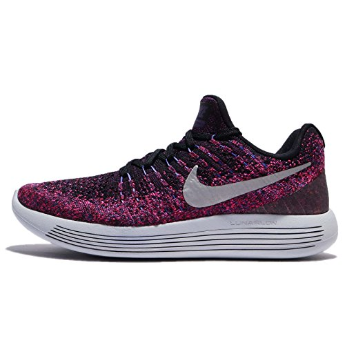 2 Low Shoe Flyknit Lunarepic Black Running Women's Metallic Silver Nike OEqvxIC