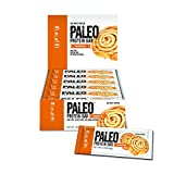 Paleo Protein Bar, Cinnamon Roll, Pack of 24 (12 x 2 cases), 2.12 oz (60g)