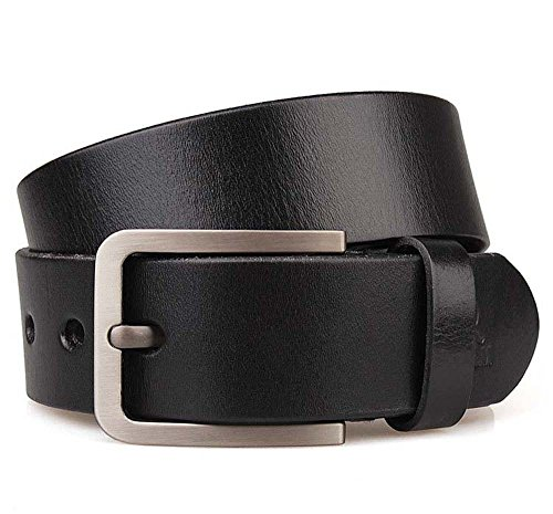 JingHao A18 pin buckle Mens Belts Genuine Leather Casual Belt Size S-6XL (5XL 49
