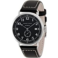 Hamilton Khaki Navy Pioneer Automatic Black Dial Black Leather Mens Watch (H78415733)