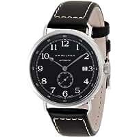 Hamilton Khaki Navy Pioneer Automatic Black Dial Black Leather Mens Watch (H78415733)