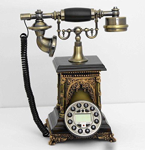 Retro style push button dial desk telephone / Home decorative # 1692