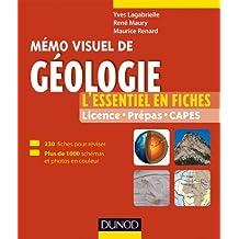 Mémo visuel de géologie : L'essentiel en fiches et en couleurs (Tout le cours en fiches) (French Edition)