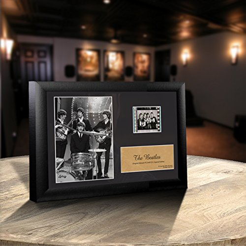 Beatles S1 Collectible Special Edition Wood Framed Movie Film Cell Plaque - 7.5x5.5