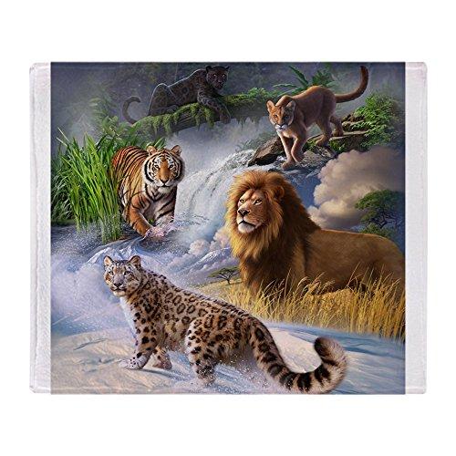 CafePress Big Cats Soft Fleece Throw Blanket, 50