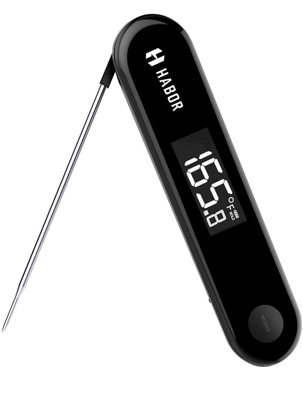 Rechargeable Cooking Thermometer, Habor IPX7 Waterproof Digital Candy Thermometer 3Seconds Instant Read Thermometer with Sensitive Touchable Button for Meat Kitchen Home Food BBQ Grill Smoker Milk