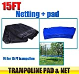 15 ft. Trampoline Replacement Safety Pad & Enclosure Net Combo - Best Reviews Guide