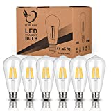 Cheap Antique LED Bulbs, 6W ST64 Dimmable Vintage Edison LED Bulbs,60W Equivalent, Squirrel Cage Filament Bulb, Soft Warm White 2700K, 550 Lumens, E26 Clear Glass , Pack of 6(2 Year Warranty )