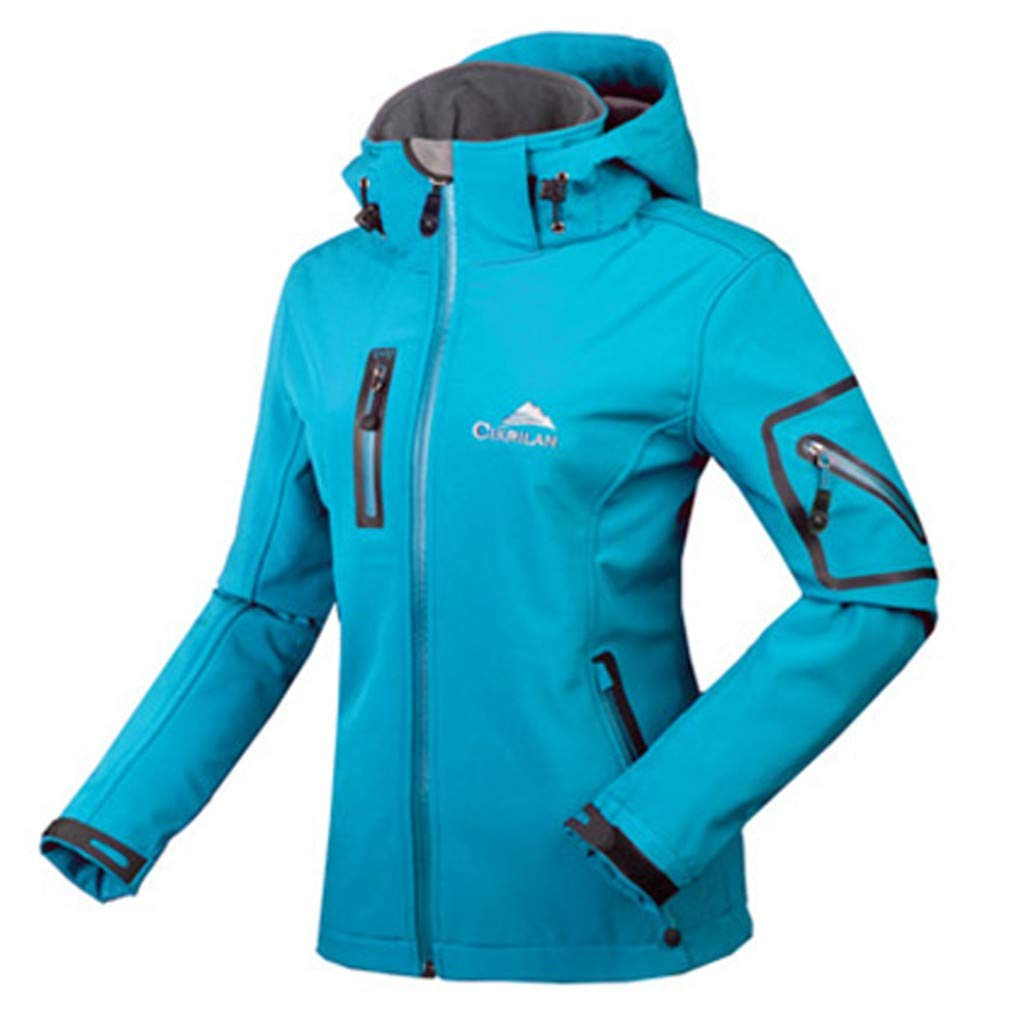 Seaintheson Womens Hoodie Jacket,Winter Waterproof Quick Drying Pullover Hooded Breathable Sport Outdoor Coat Outerwear Blue by Seaintheson Women's Coats
