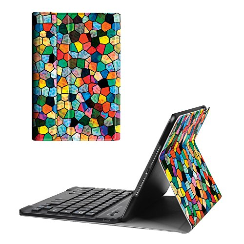 Fintie iPad mini 4 Keyboard Case - Blade X1 Ultra Slim Shell Lightweight Cover with Magnetically Detachable Wireless Bluetooth Keyboard for Apple iPad mini 4 (2015 Release), Stained Glass Mosaic (Stained Glass Ipad Mini Case)