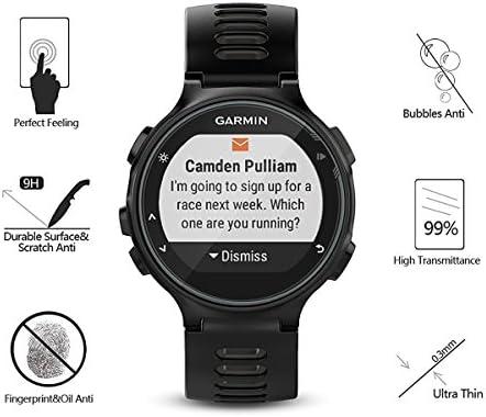 AKWOX [4 Unidades] Protector de Pantalla para Garmin Forerunner 735XT [9H Dureza] Cristal Vidrio Templado para Garmin Forerunner 735XT GPS Multisport and Running Watch Cristal Templado: Amazon.es: Electrónica