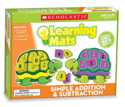 Scholastic Teacher's Friend Simple Addition & Subtraction Learning Mats, Multiple Colors (TF7115)