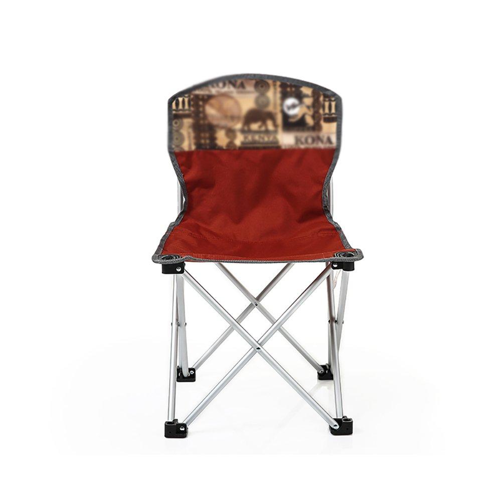 キャンピングチェア ZGL アウトドア 折りたたみチェア アルミニウム合金 ポータブル スケッチ バックレスト 椅子 旅行 ハイキング 折りたたみチェア   B07DH3NYPC