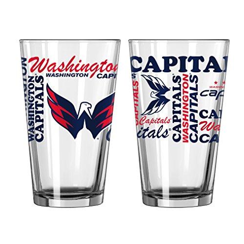 Washington Capitals Official Nhl 16 Fl  Oz  Spirit Pint Glass