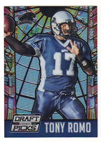 2015 Panini Prizm Collegiate Draft Picks Stained Glass #47 Tony Romo NFL Football Card NM-MT