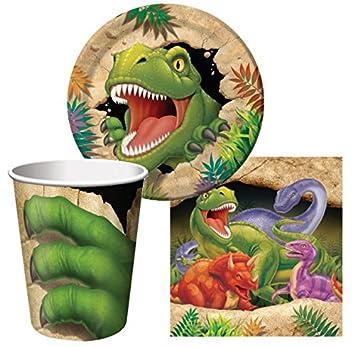 8 Party-Teller DINOSAURIER kleine Pappteller,T-Rex Kindergeburtstag-Party Junge