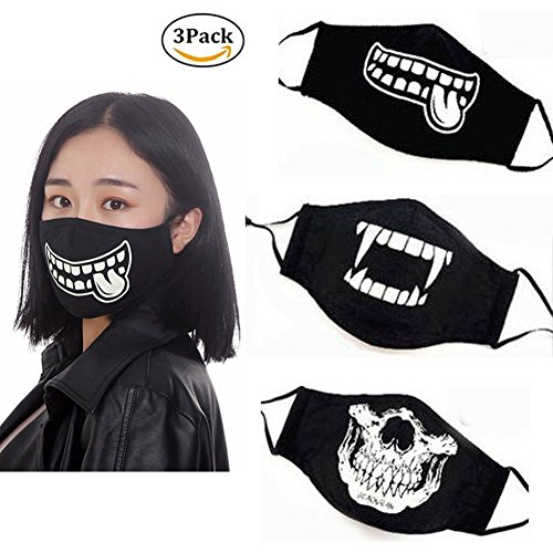Luminous Black N95 Respirator Anti Pollution Mask Comfy Mask Washable with New Adjustable Straps Allergy/Asthma/Travel/Cycling/Adult/Children/Men/Women/DIY by oemby001