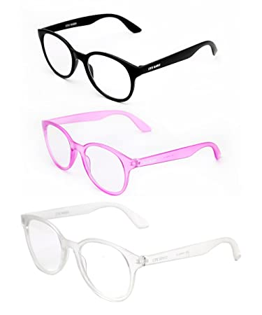 6da257248dd8 Image Unavailable. Image not available for. Color: Steve Madden Black & Purple  Rounded Reading Glasses 3 ...