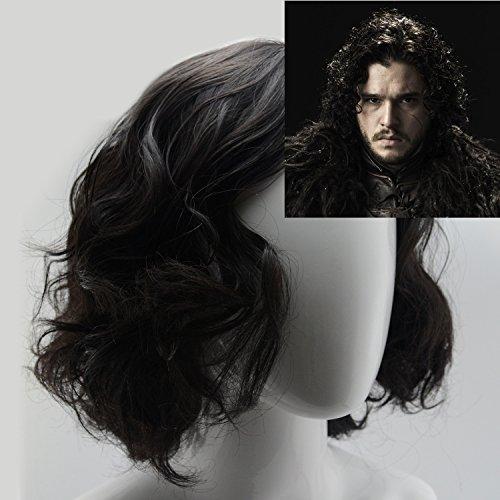Amazon.com iLToy Curly Short Black Wig and Wig Cap for Men - Jon Snow Beauty  sc 1 st  Amazon.com & Amazon.com: iLToy Curly Short Black Wig and Wig Cap for Men - Jon ...