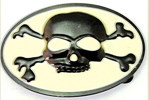 [Skull Crossbones Belt Buckle Skeleton Grim Reaper Antiqued Metal Gothic Tattoo Tribal] (Skull Buckle Metal)