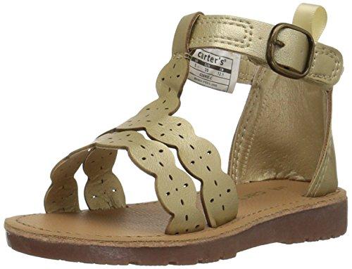 Metallic T-strap Sandals - 3