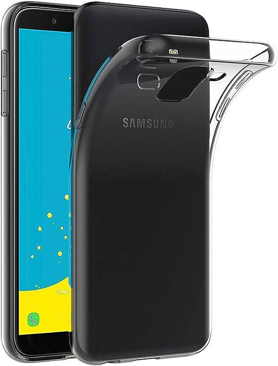 AICEK Funda Samsung Galaxy J6 2018, Transparente Silicona Fundas para Samsung Galaxy J6 Carcasa Silicona Funda Case (5,6 Pulgadas SM-J600F): Amazon.es: Electrónica